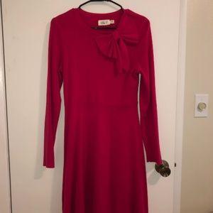 Eliza J Fit & Flare Bow Sweater Dress